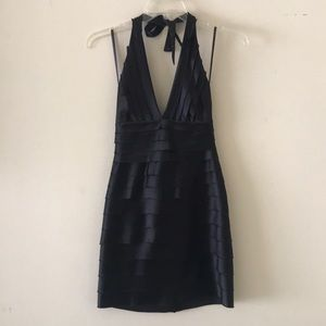 BCBGMaxazria Halter Dress in Black